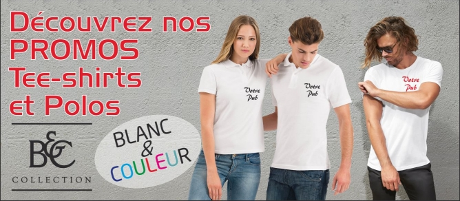 tee-shirts et polos B&C promotion