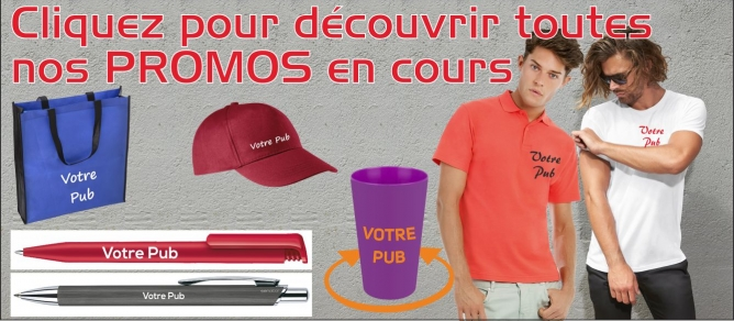 promotions tee-shirts polos casquettes stylos - sacs shopping