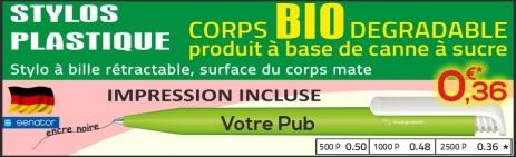 promotion stylos plastique recyclé