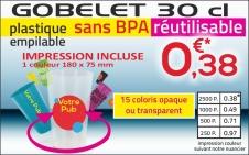 promotion gobelet réutilisable pour porte ouverte salon
