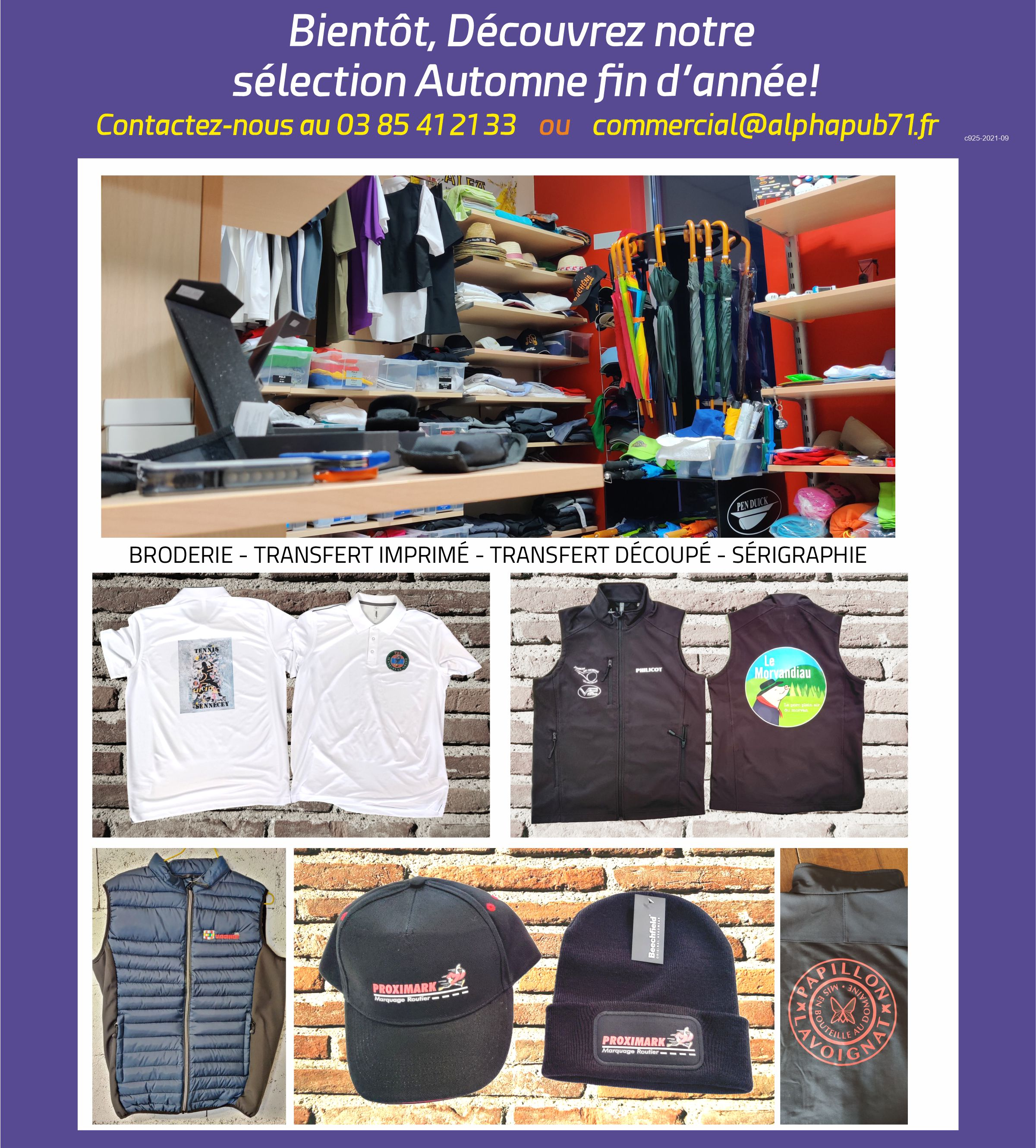 promotions tee-shirts, sweats, objets publicitaires