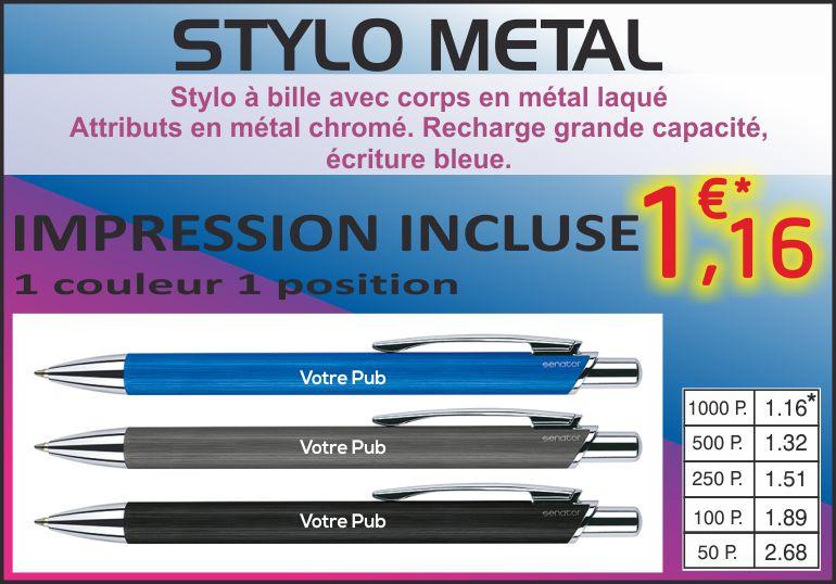 stylo métal